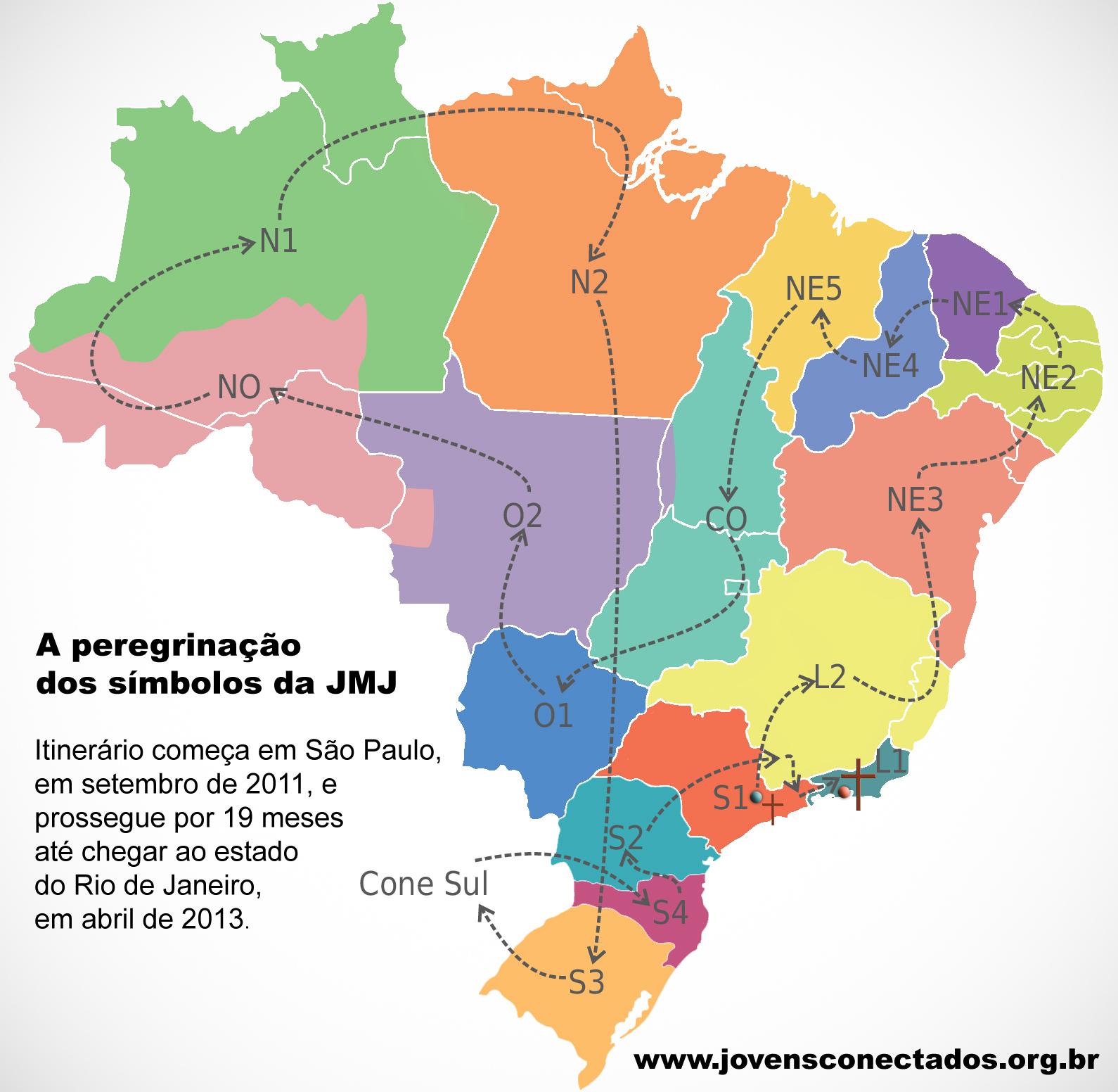 Mapa-peregrinacao