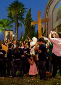 Despedida dos Símbolos da JMJ reúne multidão na Diocese de Jaboticabal
