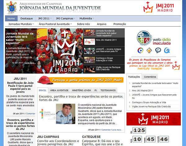 Novo site sobre a JMJ para os jovens de Campinas e região