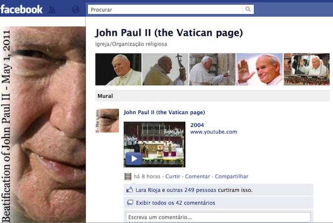 Página de JPII no Facebook já é um sucesso