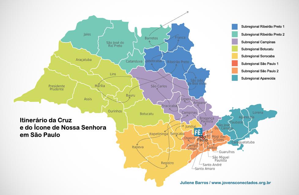 Você sabe por onde a Cruz e o Ícone de Maria já passaram em São Paulo? Acompanhe!