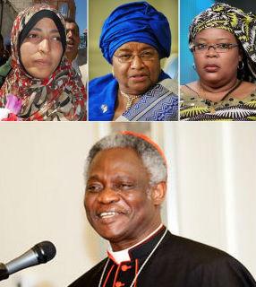 Vaticano felicita mulheres que receberam o Nobel da Paz 2011