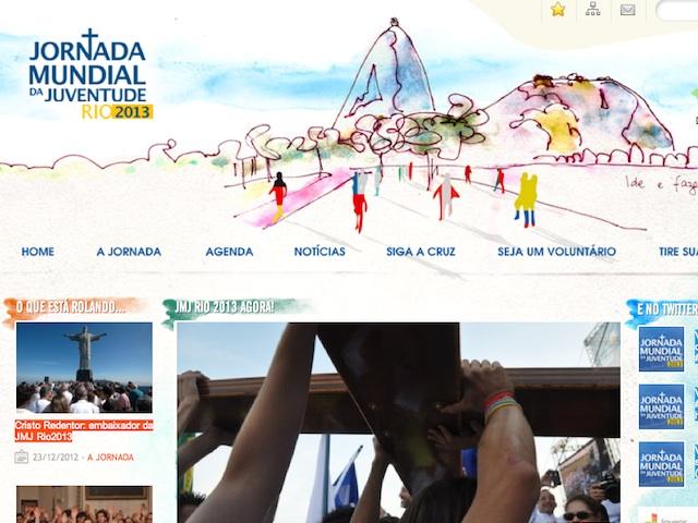 Você já conhece o novo site oficial da JMJ Rio 2013?