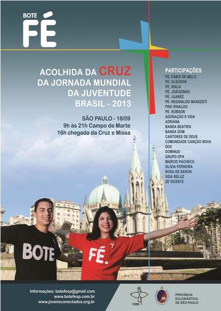 Bote Fé: Cruz da Jornada chega ao Brasil no dia 18 de setembro