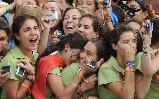 Com a chegada do Papa, Madri está em festa!