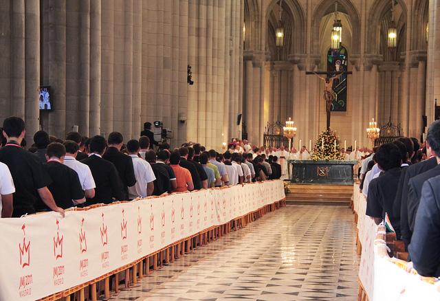 Bento XVI celebra com seminaristas na JMJ