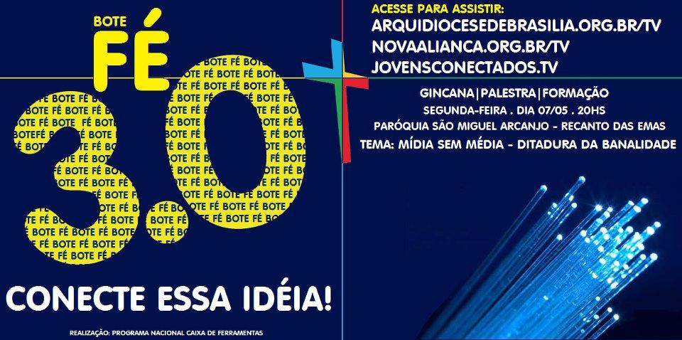 Como prévia do Bote Fé, Arquidiocese de Brasília prepara debates sobre Juventude, mídias e educação