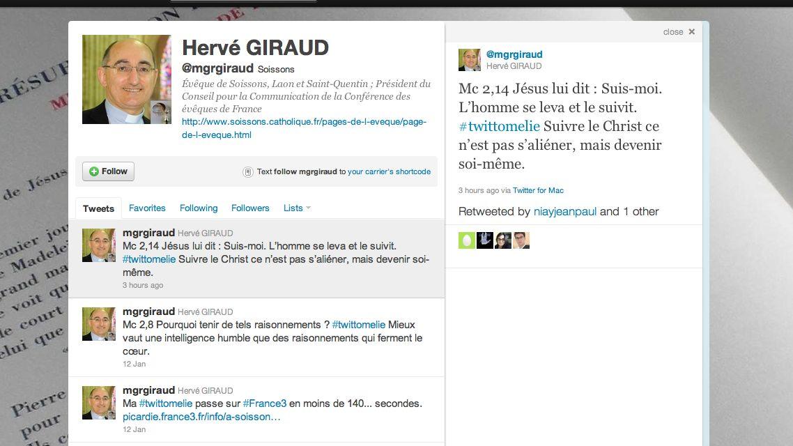 "Bispo francês difunde ""#twitthomilias"""