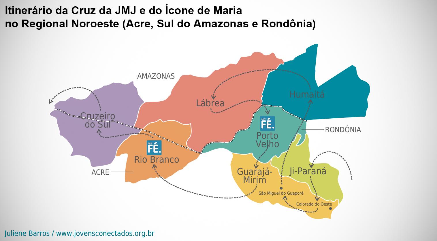Peregrinação dos Símbolos da JMJ no Regional Noroeste