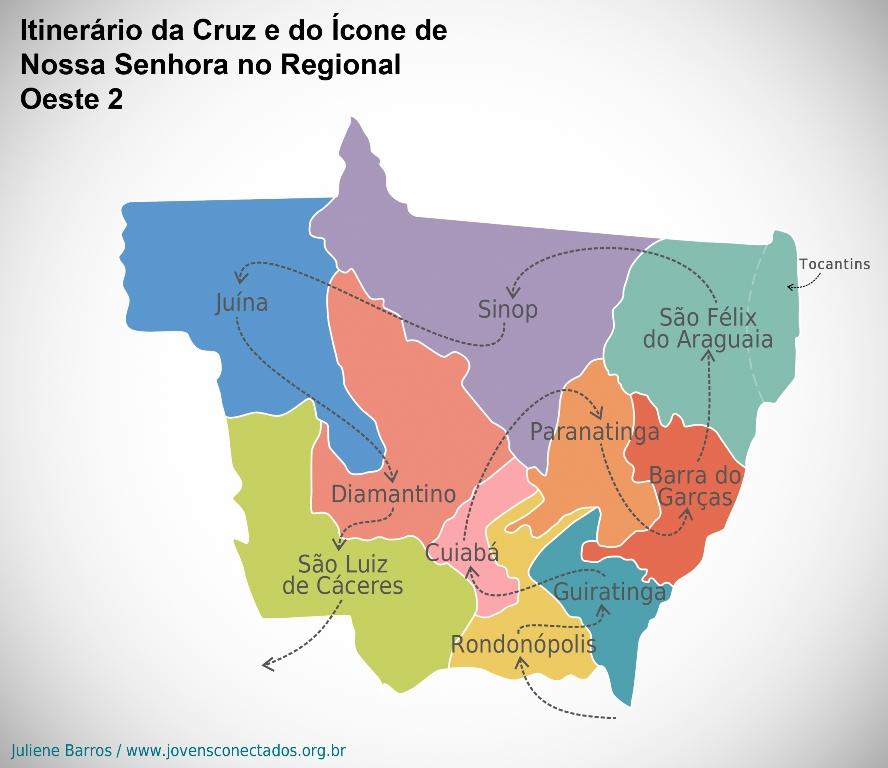 Veja como foi a peregrinação dos Símbolos da JMJ no Mato Grosso
