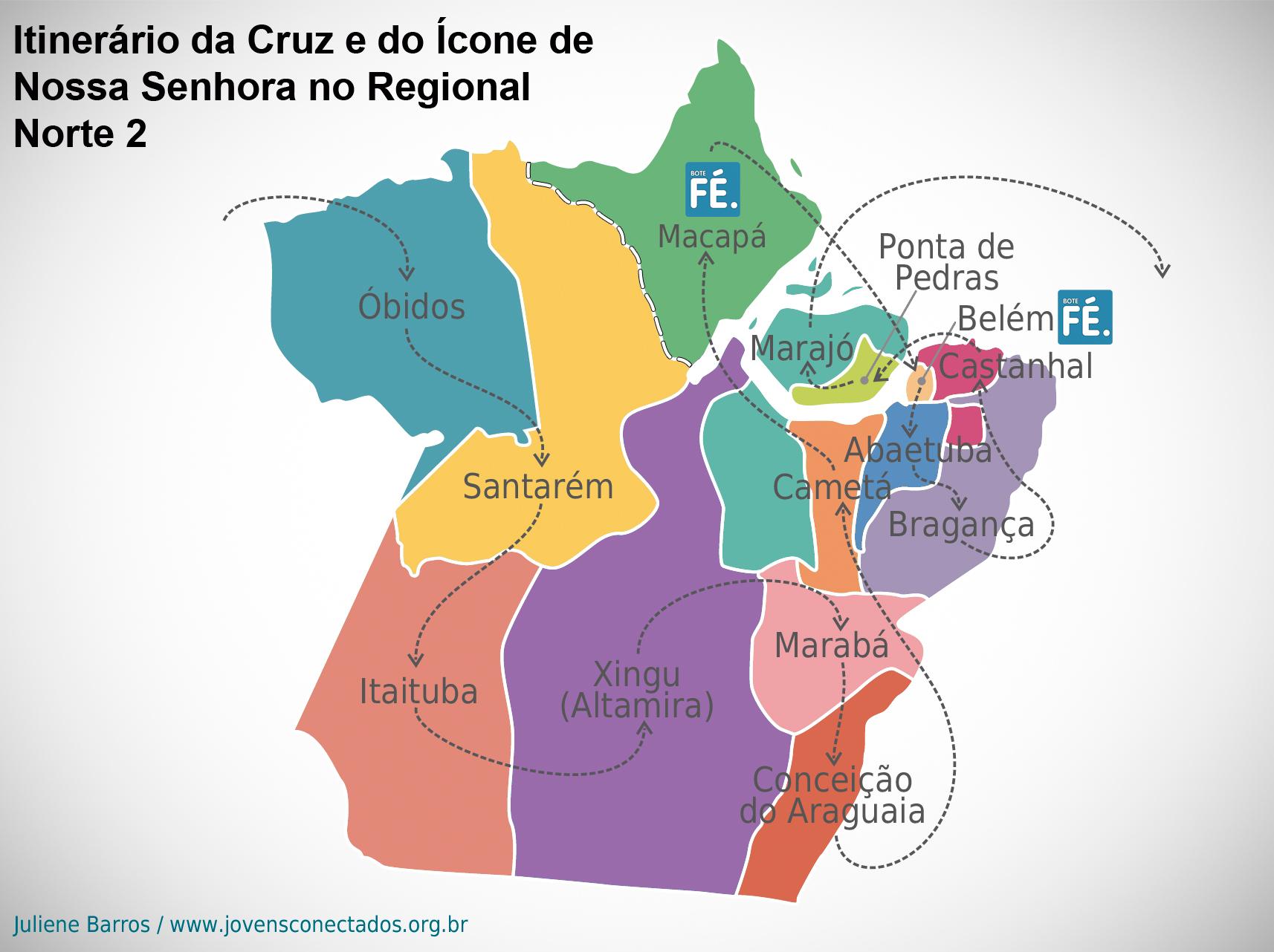 Pará e Amapá receberam os Símbolos da JMJ em outubro de 2012