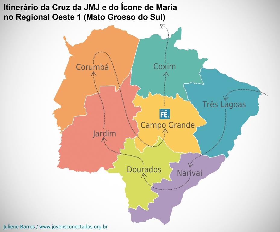 Veja como foi a peregrinação da Cruz e do Ícone de Nossa Senhora no Mato Grosso do Sul
