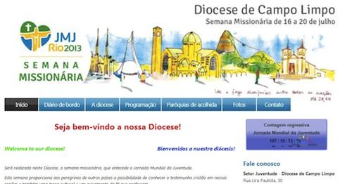 Diocese de Campo Limpo (SP) lança hotsite da semana Missionária