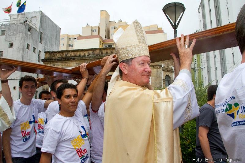 Veja como foram os primeiros momentos da peregrinação dos Símbolos da JMJ em Santa Catarina