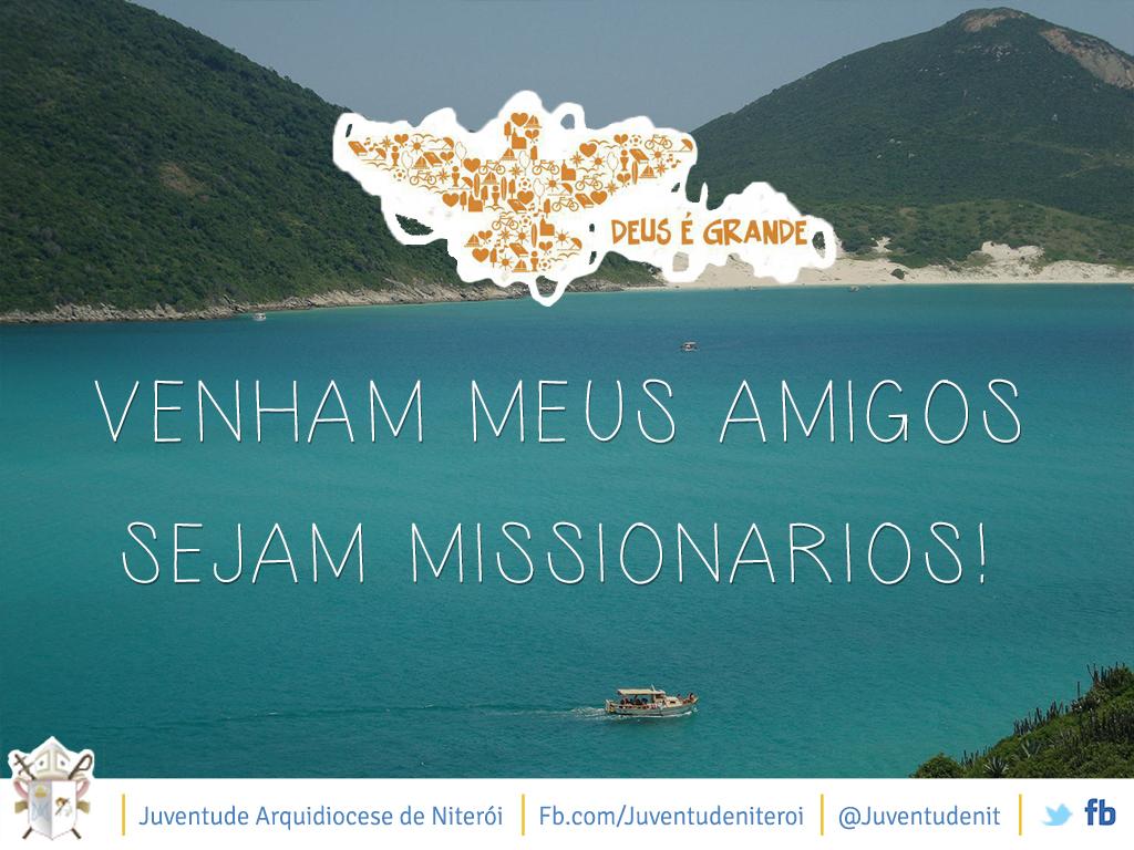 """Projeto missionário """"Deus é Grande!"""" reunirá jovens para evangelização nas praias de Arraial do Cabo, RJ"""