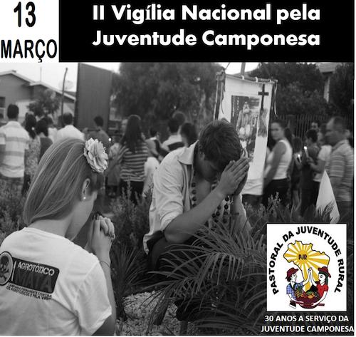 Pastoral da Juventude Rural em vigília pela Juventude Camponesa
