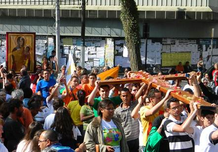 Cidade do 1º santo brasileiro, Frei Galvão, receberá Cruz da JMJ no próximo domingo