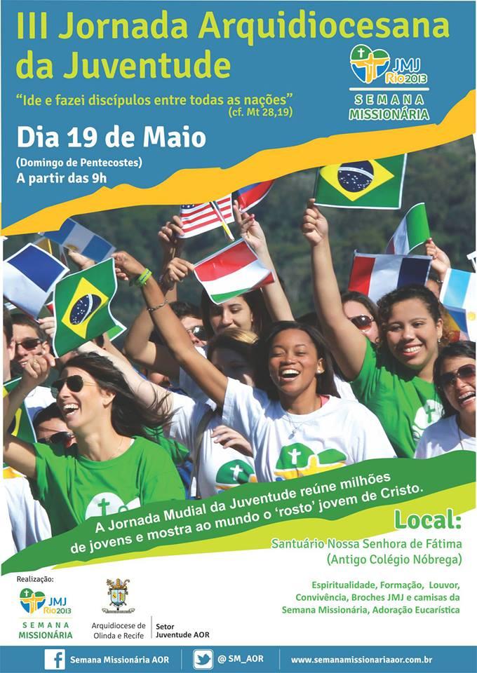 Arquidiocese de Olinda e Recife realizam Jornada Arquidiocese da Juventude neste domingo de Pentecostes