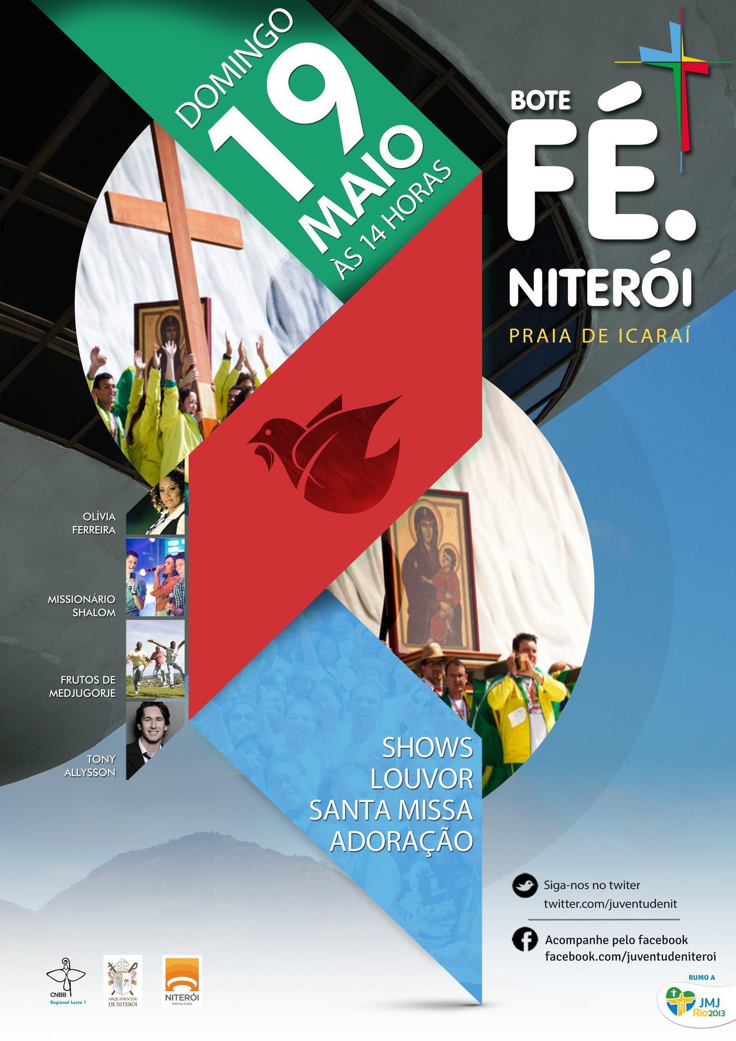 Niterói recebe Cruz e Ícone de Maria neste fim de semana