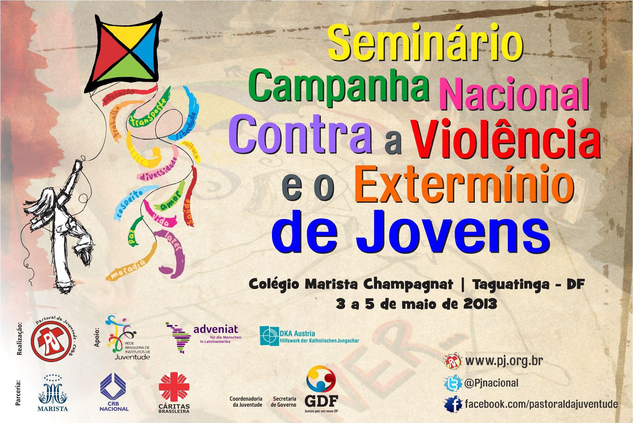 PJ e Maristas realizam seminário da campanha contra a violência e extermínio de jovens