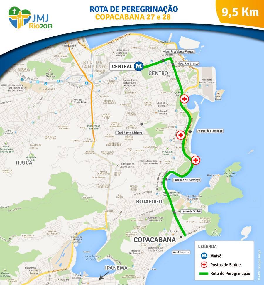 Fique Ligado: novo trajeto da Vigilia terá 9,5 Km