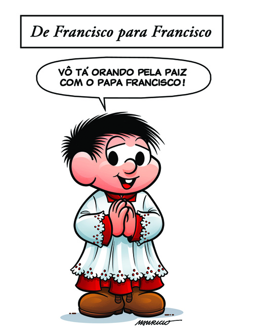 Maurício de Sousa faz homenagem ao papa Francisco