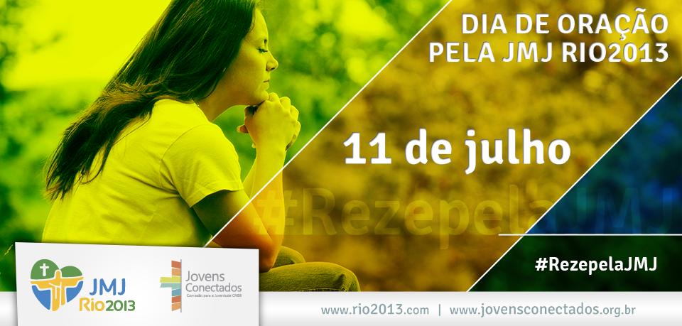 11 de julho: todos unidos no Dia de Oração pela JMJ