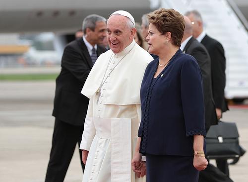 Confira íntegra do discurso do Papa Francisco no 1º dia de visita ao Brasil