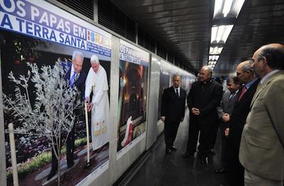 Exposição das visitas dos papas na Terra Santa