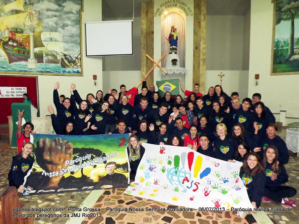 Ponta Grossa realiza missa de envio dos peregrinos da JMJ