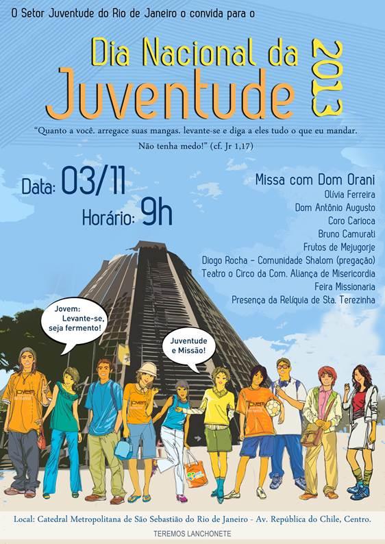 Juventude carioca celebrará DNJ em novembro