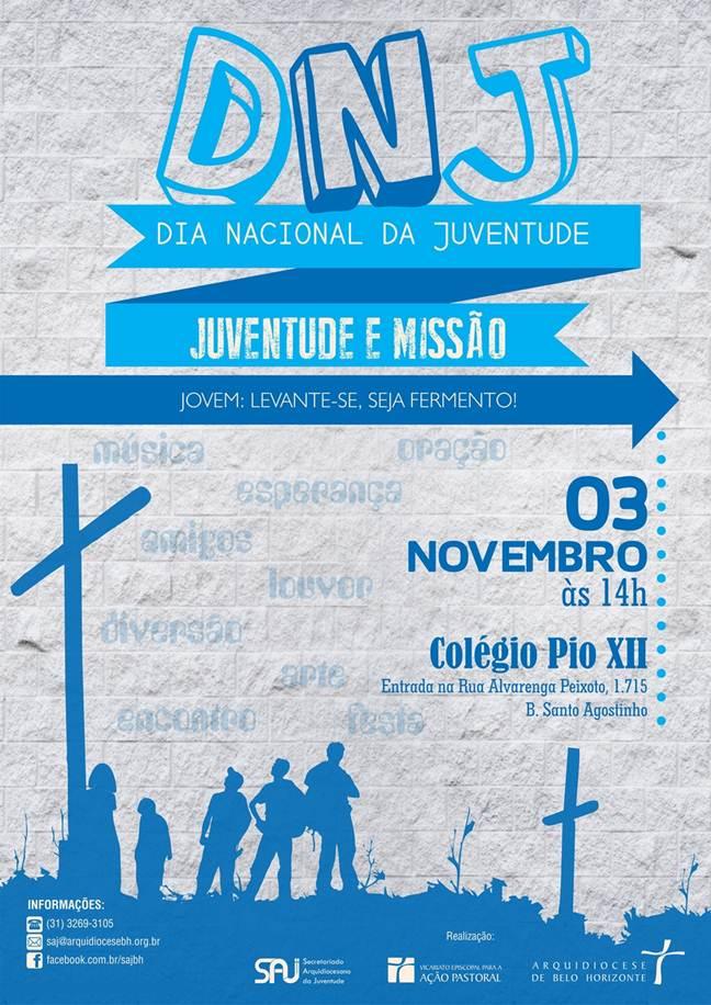 BH celebrará DNJ 2013 com Missas, shows e flashmob