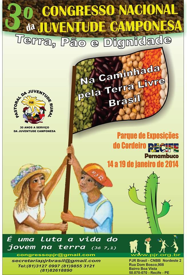 PJR realiza III Congresso Nacional da Juventude Camponesa