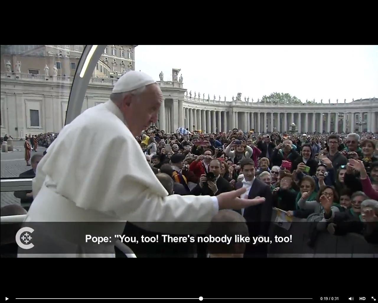 Papa Francisco dá resposta surpreendente a fiel na Praça São Pedro