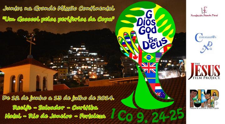 PJMP e Cristonautas promovem missão nas periferias da Copa do Mundo