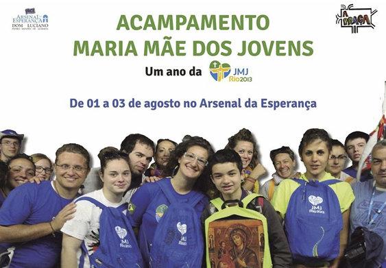 Para celebrar um ano da JMJ Arsenal da Esperança promove acampamento