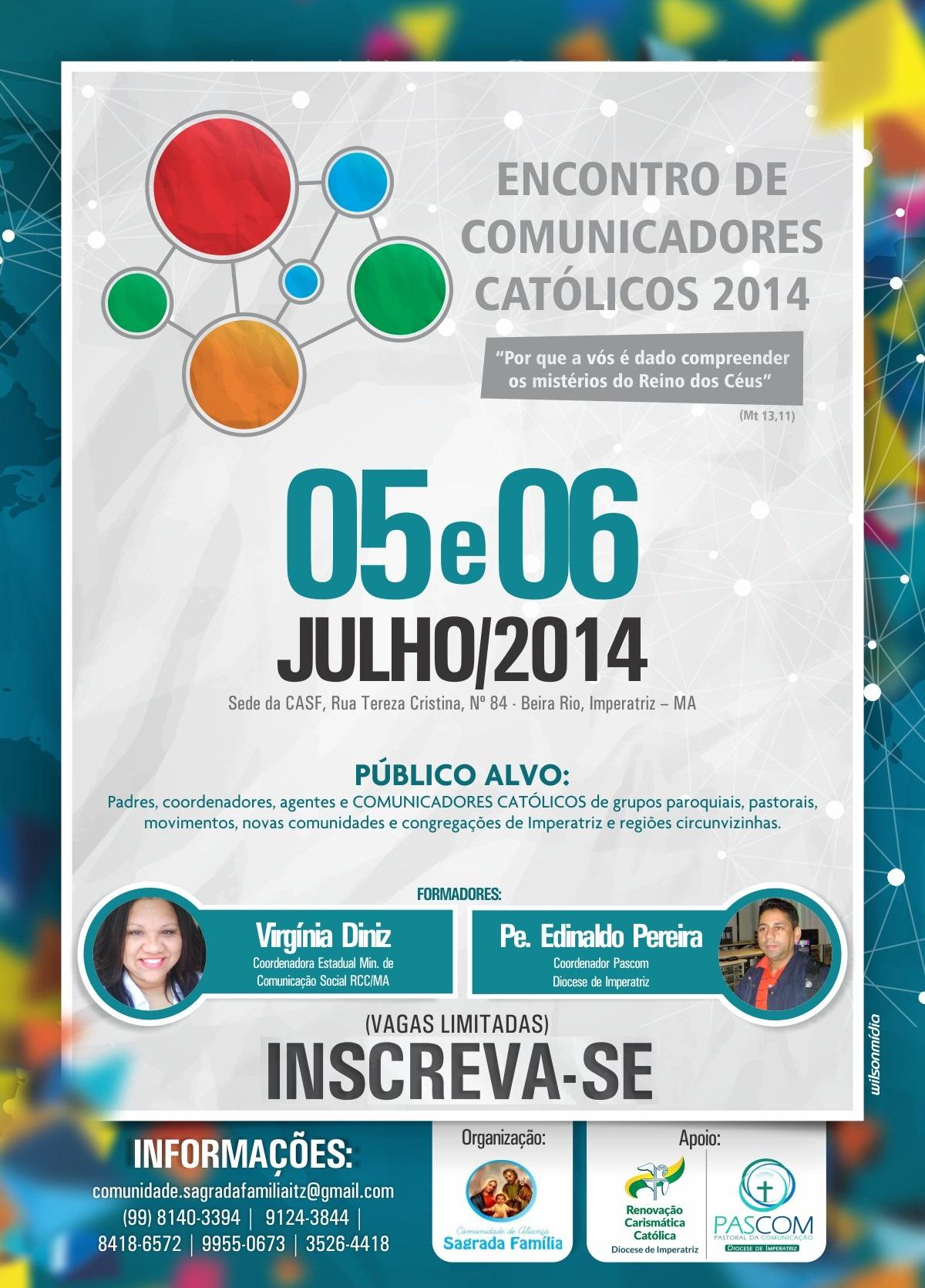 Encontro no Maranhão vai reunir comunicadores católicos