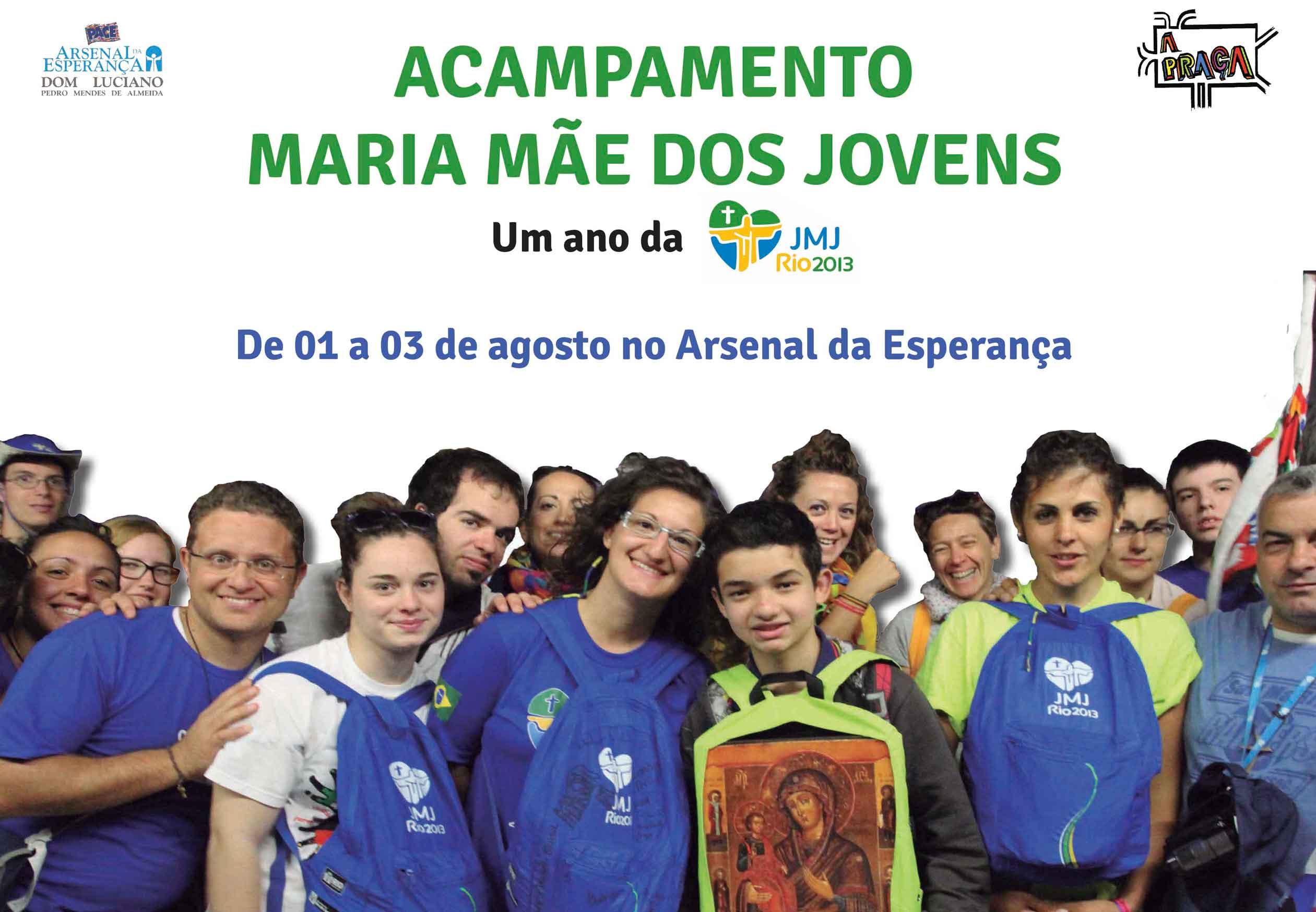 Acampamento em São Paulo vai marcar 1 ano da JMJRio2013
