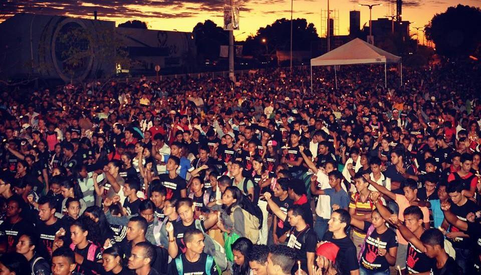 Romaria reúne mais de 25 mil jovens no Maranhão