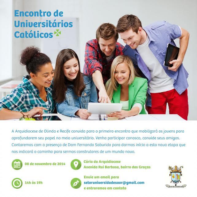 Encontro vai reunir universitários católicos em Pernambuco