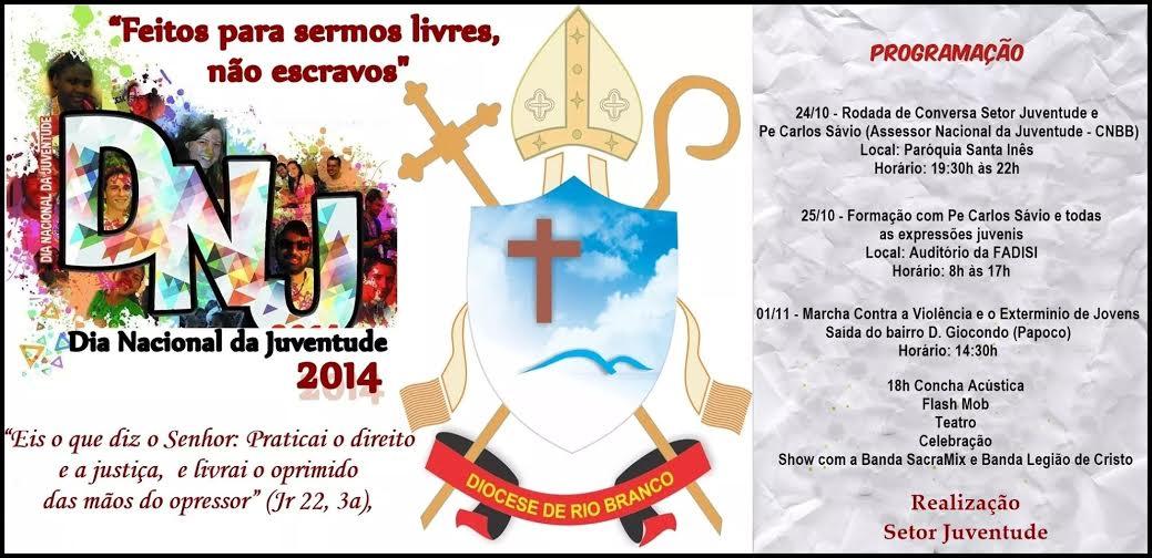 Diocese de Rio Branco programa semana de atividades para DNJ