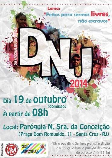 Juventude carioca celebrará DNJ com orações, pregação e samba