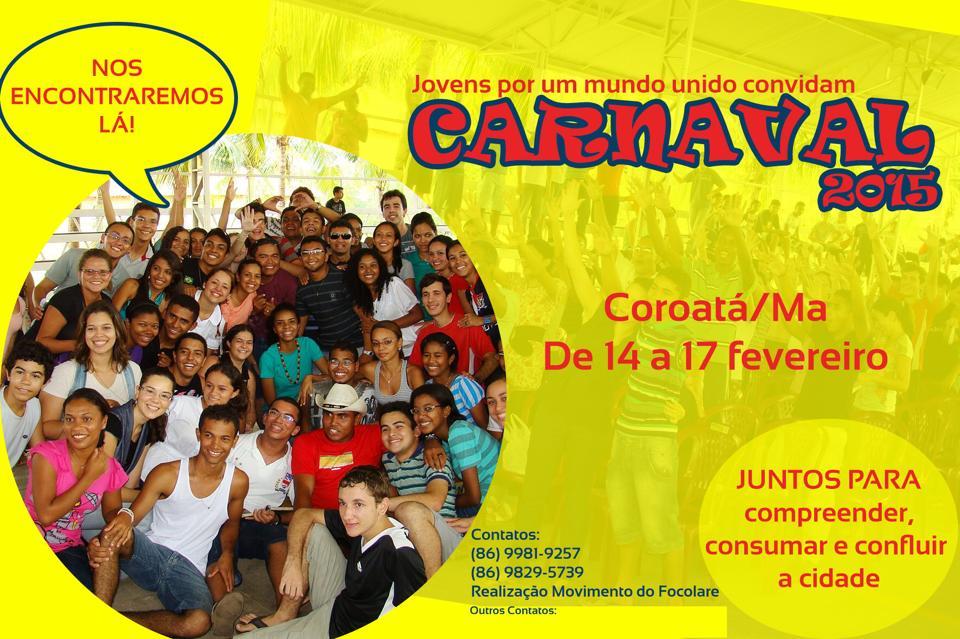 """Movimento Focolares convida para Um """"Carnaval alternativo"""""""