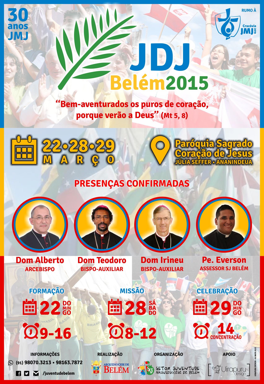 Arquidiocese de Belém terá formação e missão em celebração a JDJ 2015