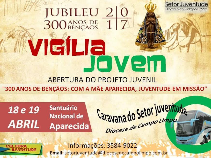 Aparecida 300 anos: Setor Juventude de Campo Limpo organiza caravana