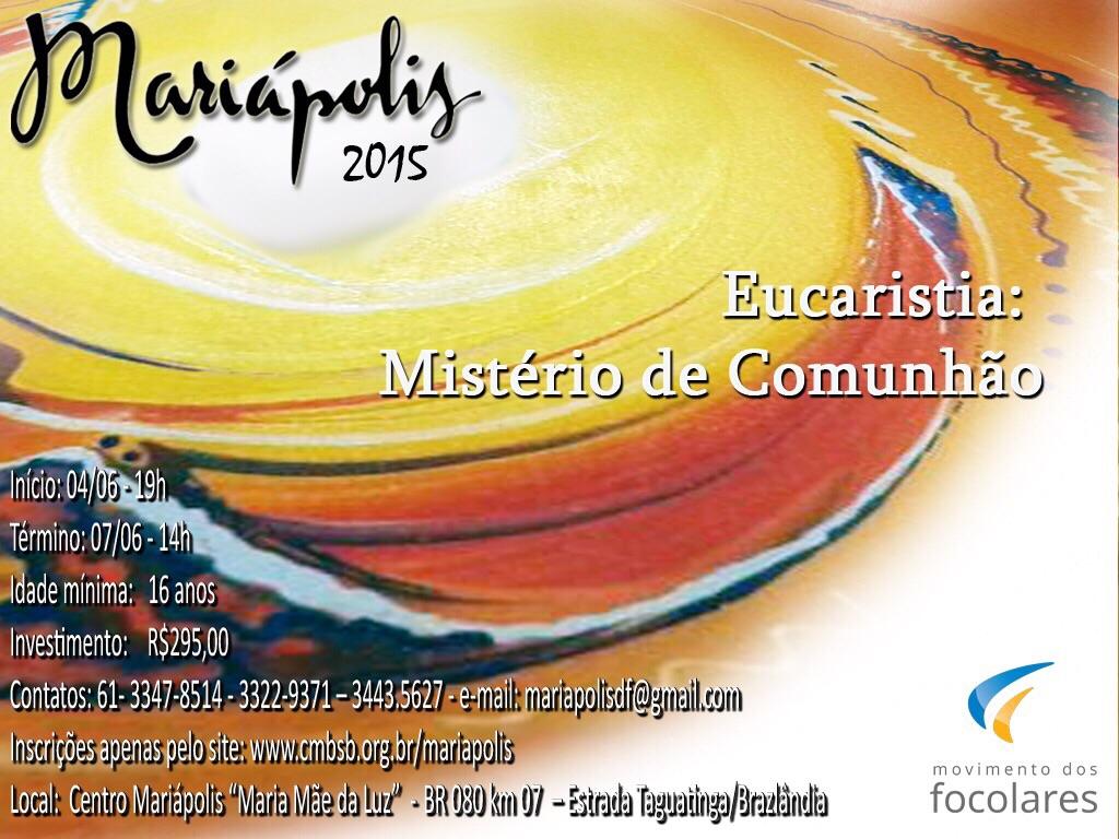 Movimento dos Focolares realiza Mariápolis na região Centro-Oeste
