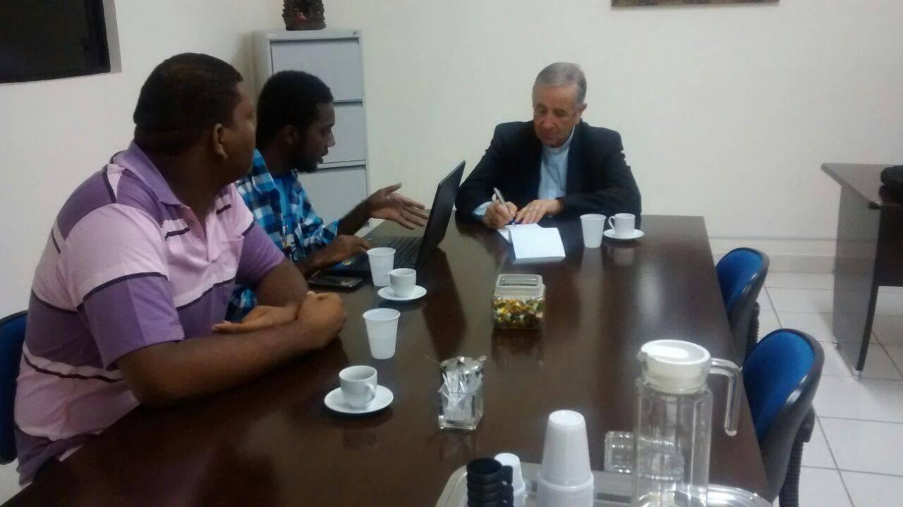 Dom João Carlos Petrini se reúne com articulador do Encontro de Jovens com Cristo da Bahia