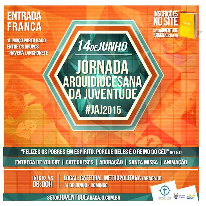 Em Aracaju, JAJ reunirá centenas de jovens