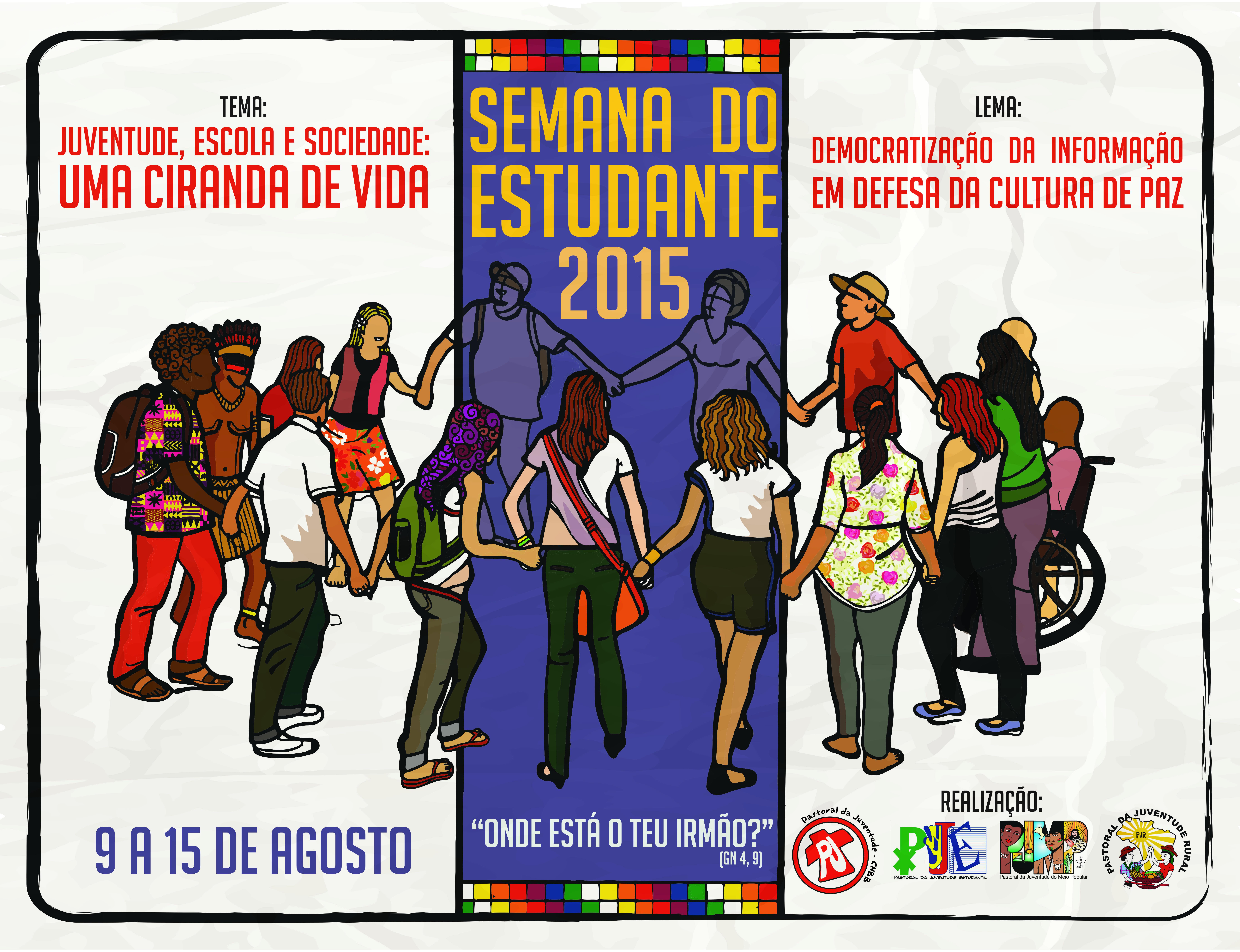 Pastorais da Juventude lançam cartaz da Semana do Estudante 2015