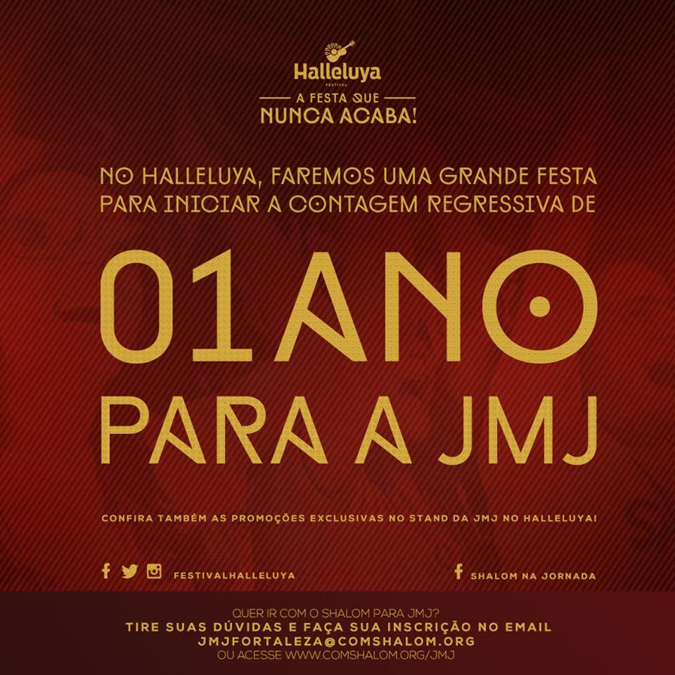 Halleluya em Fortaleza marca contagem regressiva para a JMJ